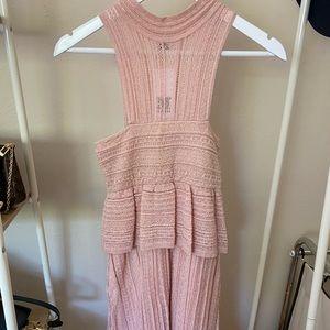 M Missoni a-line dress in blush